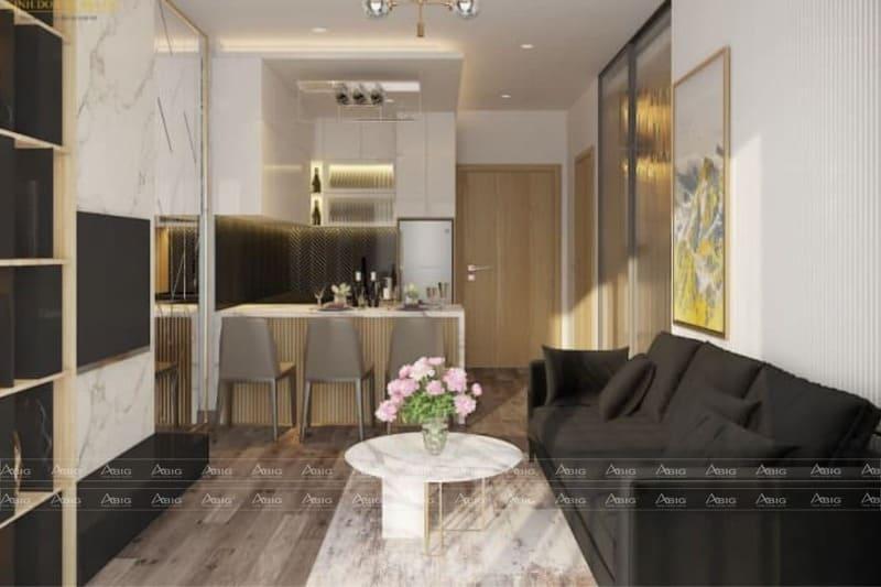 mẫu thiết kế nội thất căn hộ chung cư 2 phòng ngủ happy valley