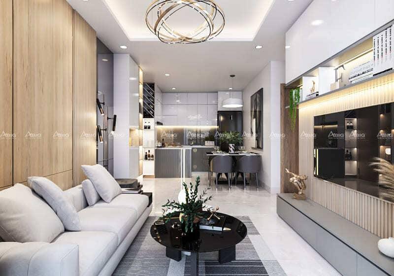 mẫu thiết kế căn hộ chung cư 2 phòng ngủ masteri thảo điền quận 2