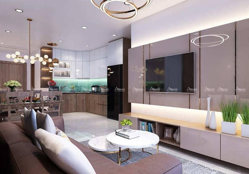 mẫu thiết kế nội thất chung cư 2 phòng ngủ saigon south residence