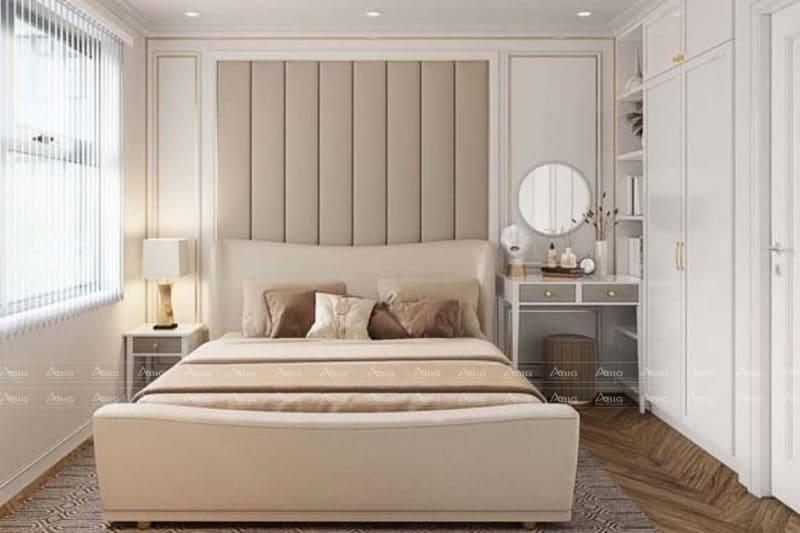 nội thất màu kem được sử dụng để trang trí phòng ngủ phụ