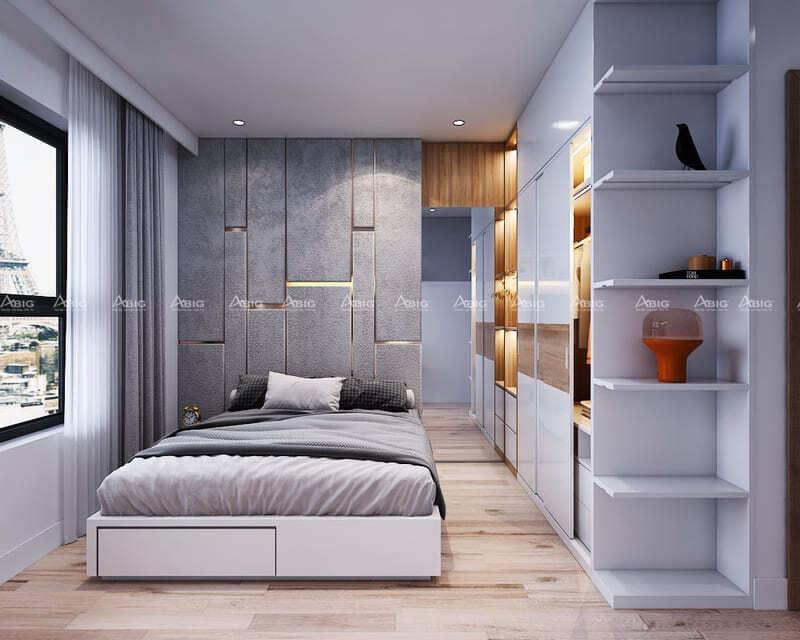 phòng ngủ được bày biện các đồ vật trang trí đẹp mắt