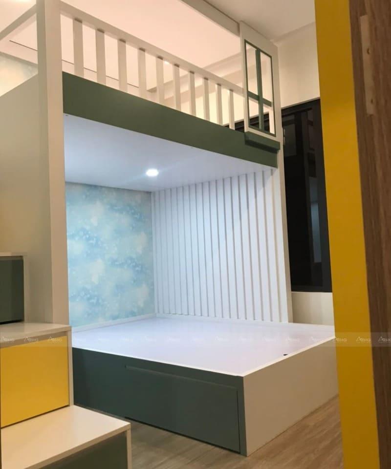 phòng ngủ được thiết kế 2 tầng tối ưu diện tích