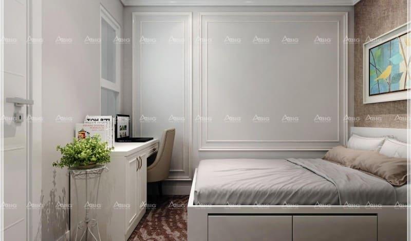 thiết kế bàn làm việc trong phòng ngủ tối ưu không gian