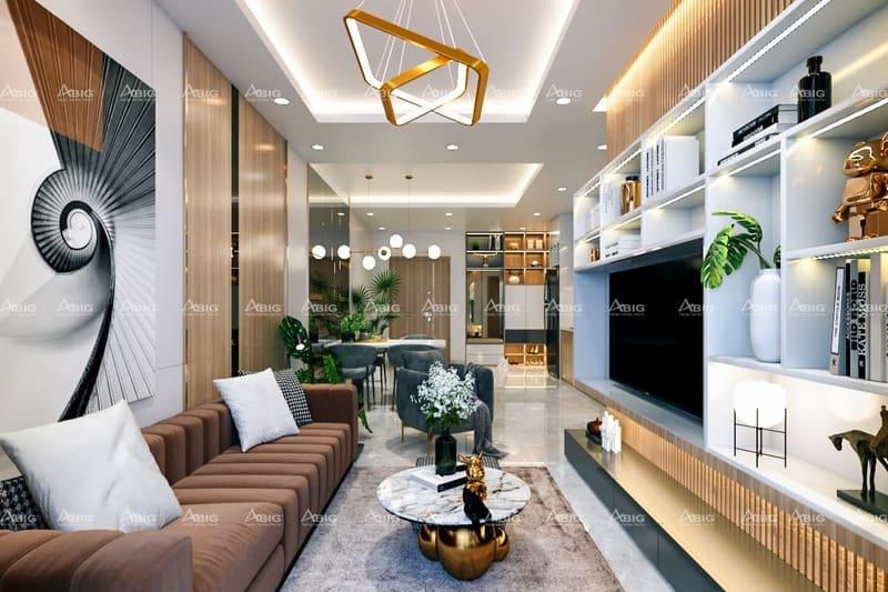 mẫu thiết kế nội thất căn hộ chung cư 2 phòng ngủ kista gateway quận 2