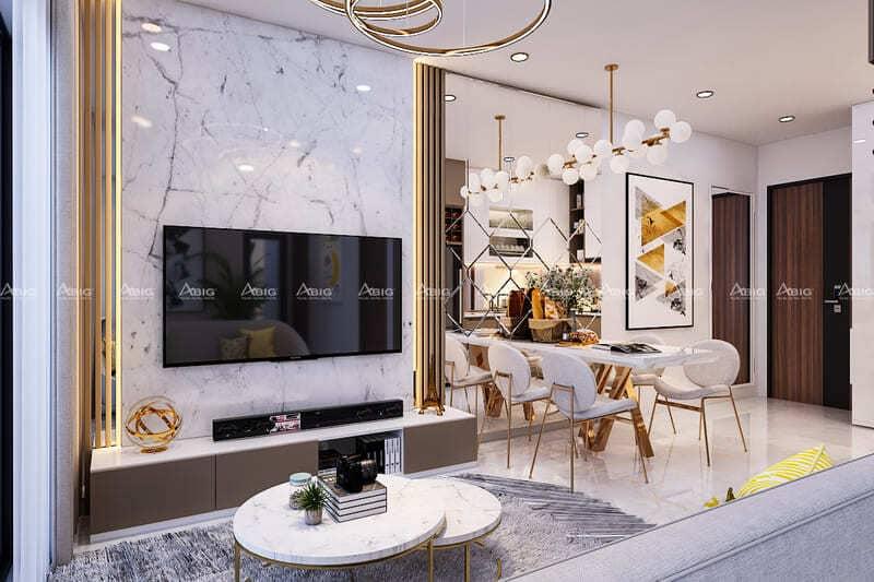 mẫu thiết kế nội thất căn hộ chung cư 2 phòng ngủ midtown phú mỹ hưng