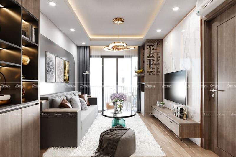 thiết kế nội thất căn hộ chung cư 2 phòng ngủ quận 2