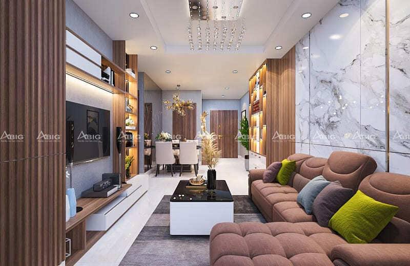 mẫu thiết kế nội thất căn hộ chung cư 2 phòng ngủ ascent thảo điền