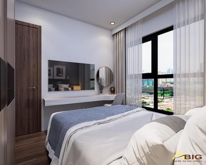 thiết kế phòng ngủ chính vừa đơn giản nhưng rất hiện đại