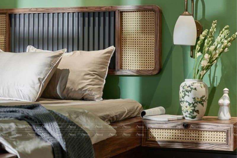 thiết kế phòng ngủ mộc mạc giản dị