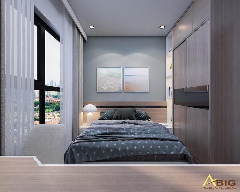 thiết kế phòng ngủ phụ trẻ trung năng động