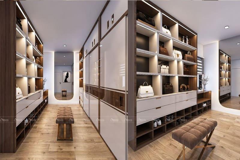phòng thay đồ được thiết kế cực chất
