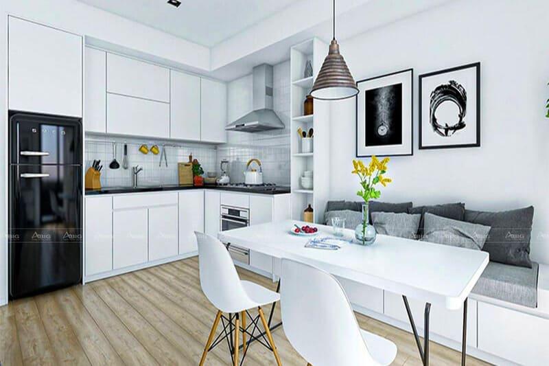kinh nghiệm thiết kế bếp cho căn hộ nhỏ 50m2