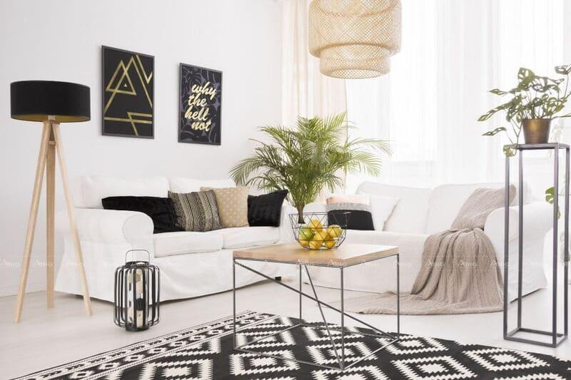 mẫu thiết kế căn hộ chung cư 50m2 gam màu sáng