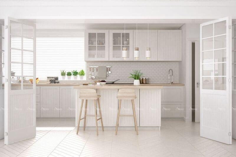 mẫu thiết kế căn hộ chung cư 50m2 phong cách tối giản minimalism