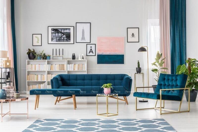 mẫu thiết kế căn hộ chung cư 50m2 phong cách trẻ trung