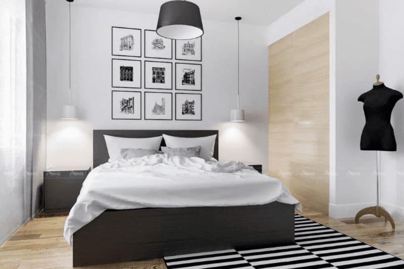 phòng ngủ chung cư nhỏ 50m2 với thiết kế ngăn nắp tối ưu diện tích