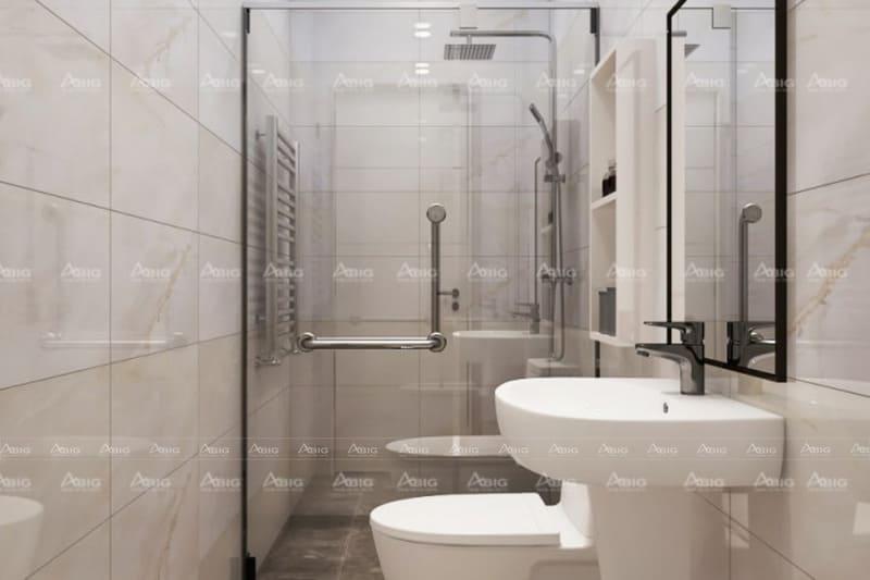 phòng vệ sinh thiết kế đơn giản gọn gàng