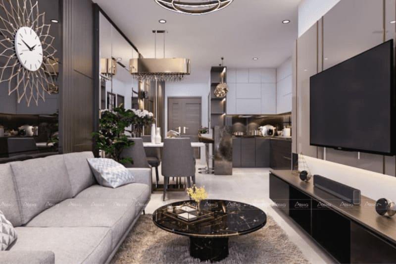 thiết kế căn hộ chung cư 50m2 nhỏ gọn ngăn nắp
