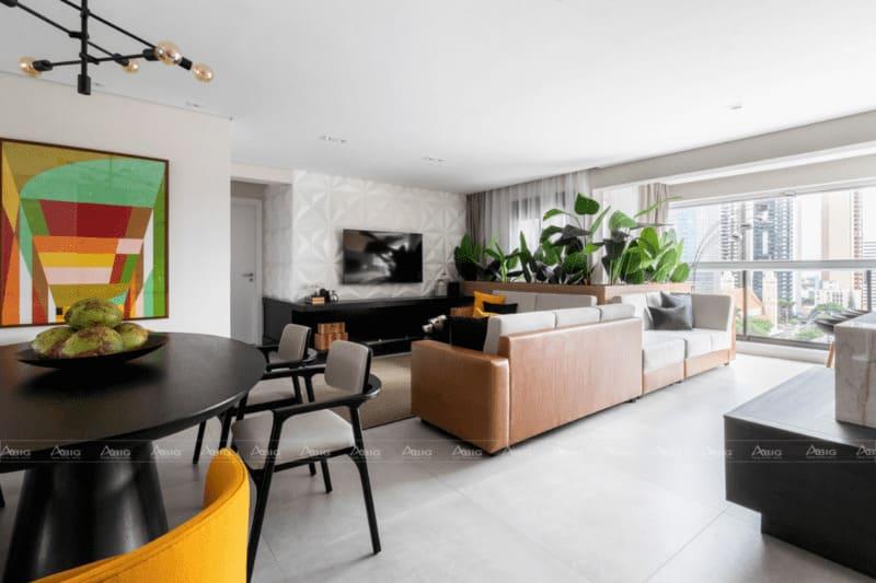 thiết kế căn hộ chung cư 50m2 phong cách nhiệt đới tropical