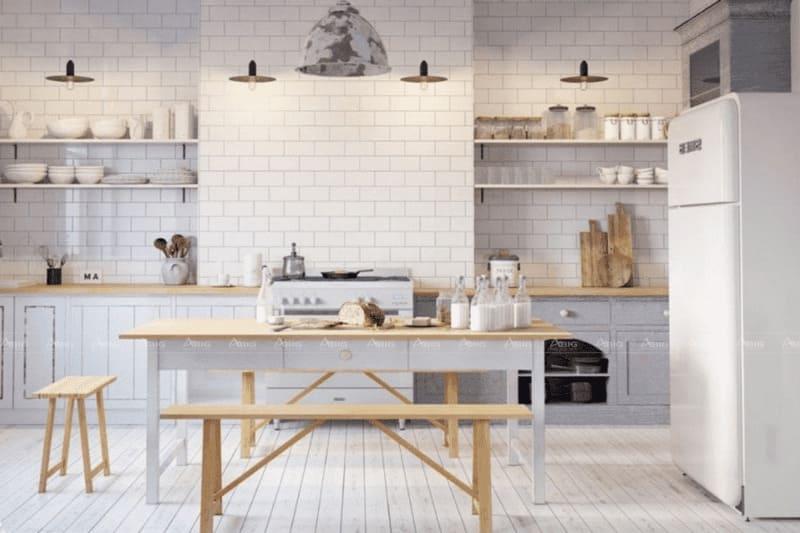 thiết kế bếp và phòng ăn phong cách bắc âu