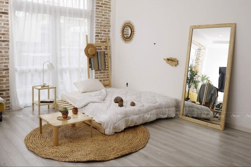 nội thất phòng ngủ được làm từ gỗ pallet ấn tượng