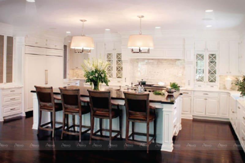 Một phong cách thiết kế khác của khu bếp mang lại nét giản dị, gọn gàng nhưng không kém phần tiện nghi