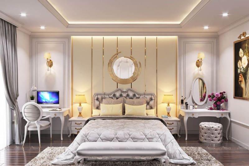 thiết kế nội thất tân cổ điển cho phòng ngủ chung cư