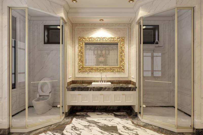 thiết kế nội thất tân cổ điển cho phòng tắm chung cư