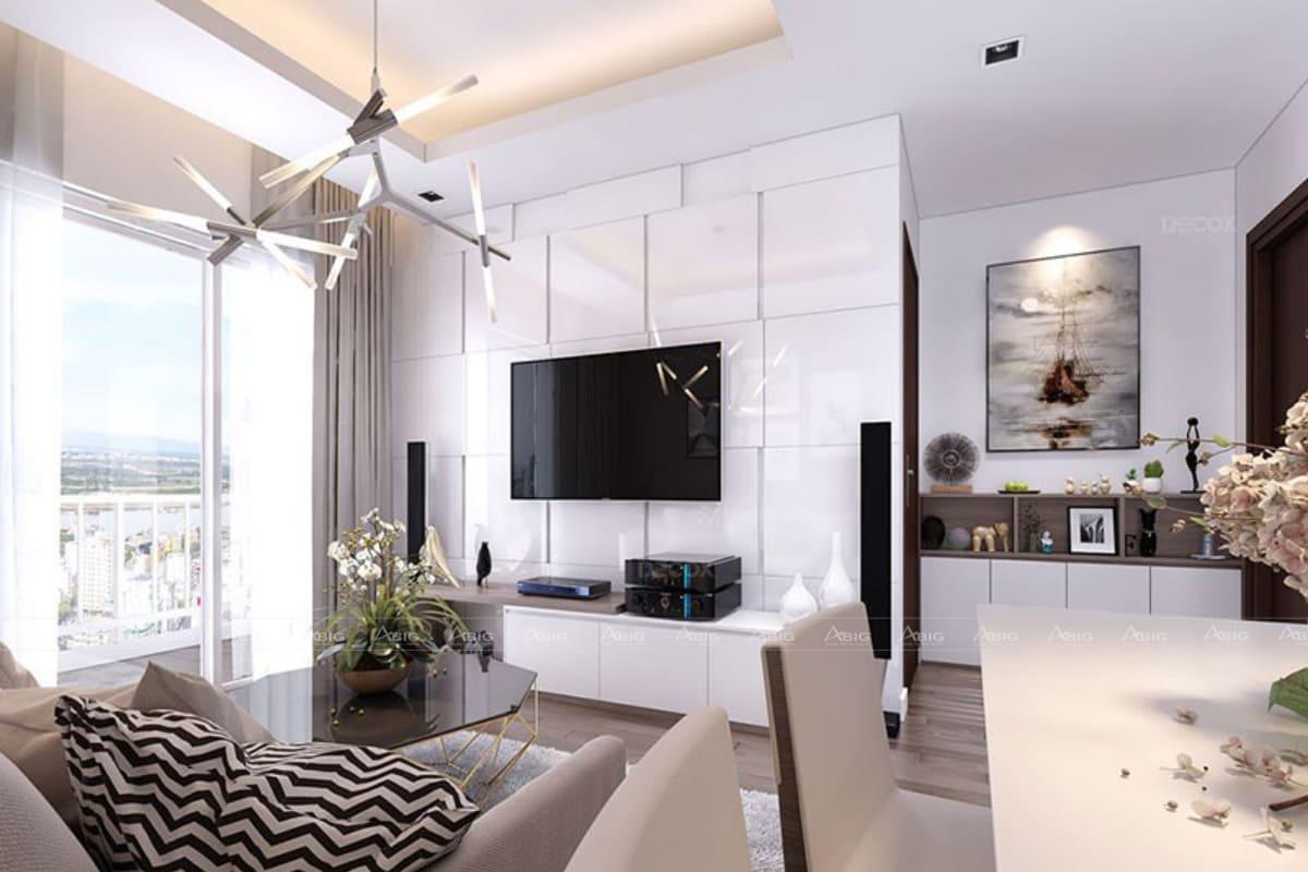 Khu vực bàn ăn, bếp liền kề với phòng khách giúp tối ưu không gian hiệu quả