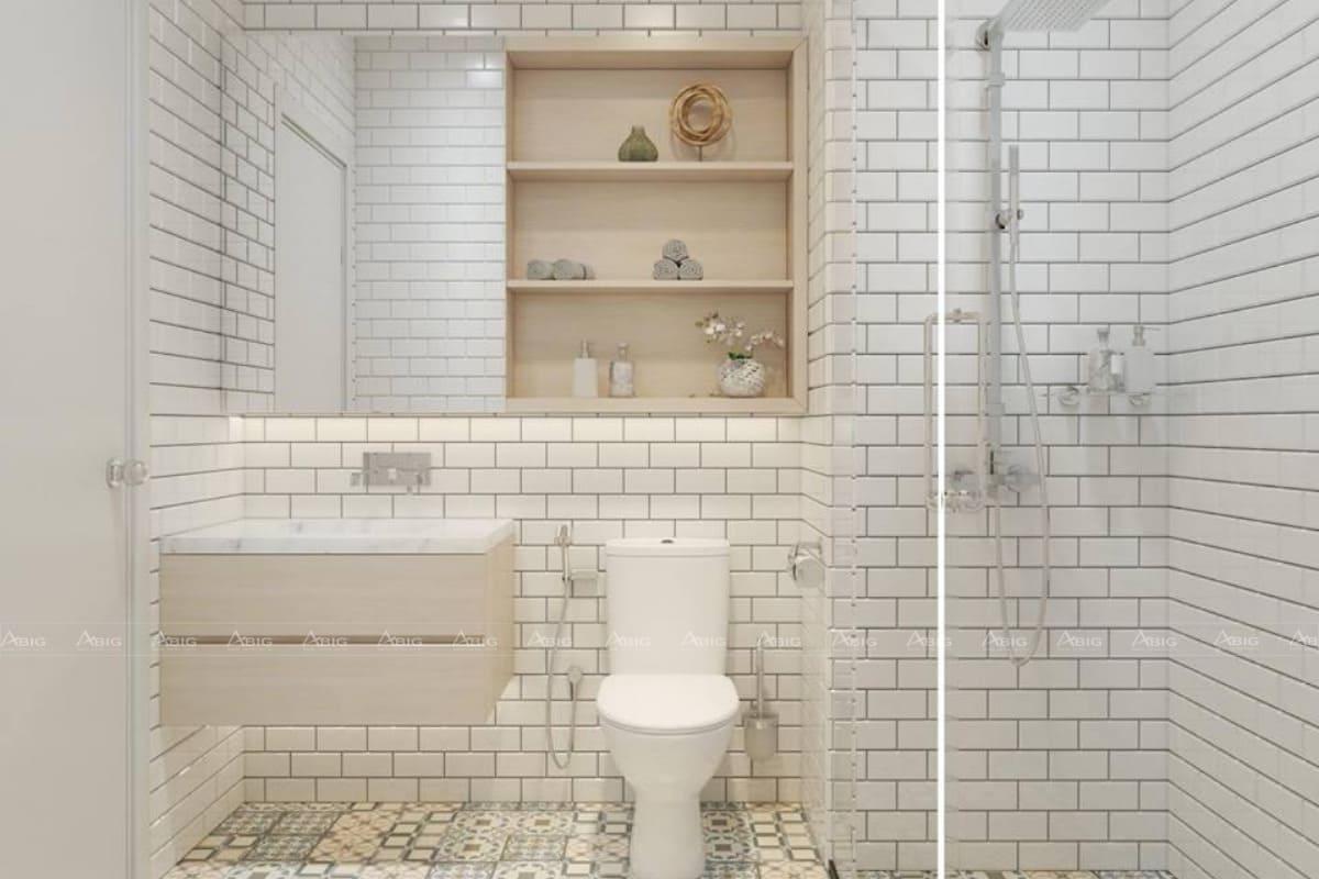 Toilet tone trắng cơ bản.