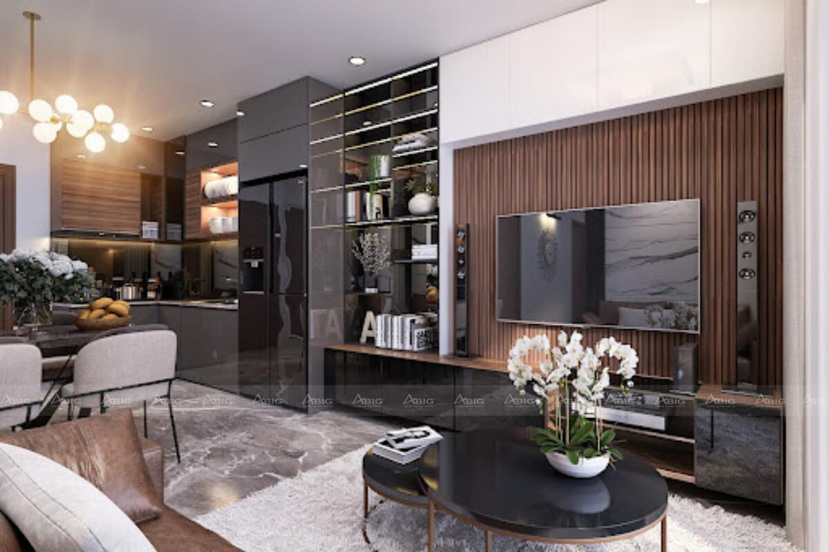 Thiết kế nội thất không gian xuyên suốt.