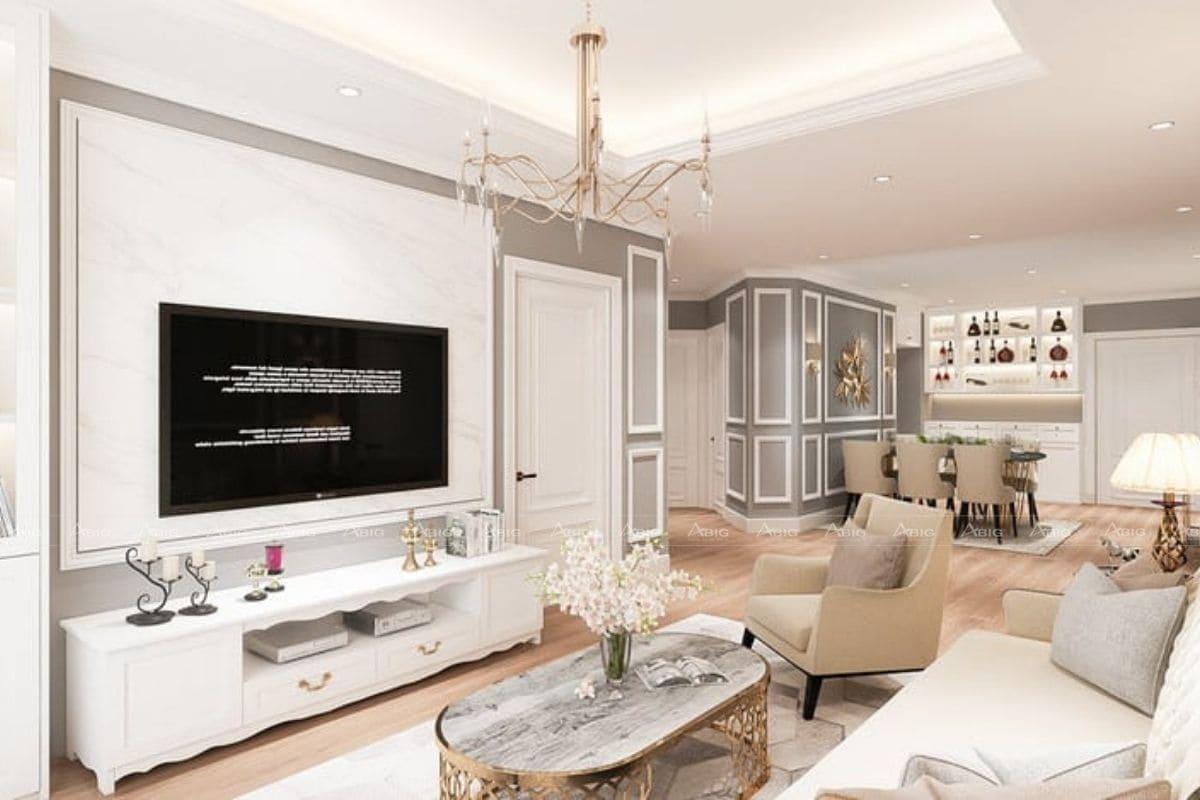 Các đường nét hoa văn uốn lượn của nội thất tạo sự mềm mại cho ngôi nhà.