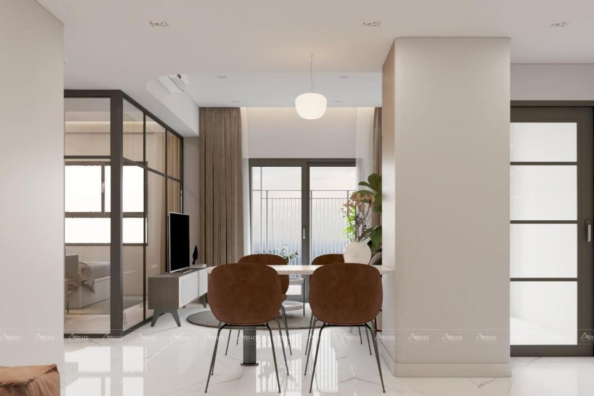 Thiết kế khu vực phòng ăn.