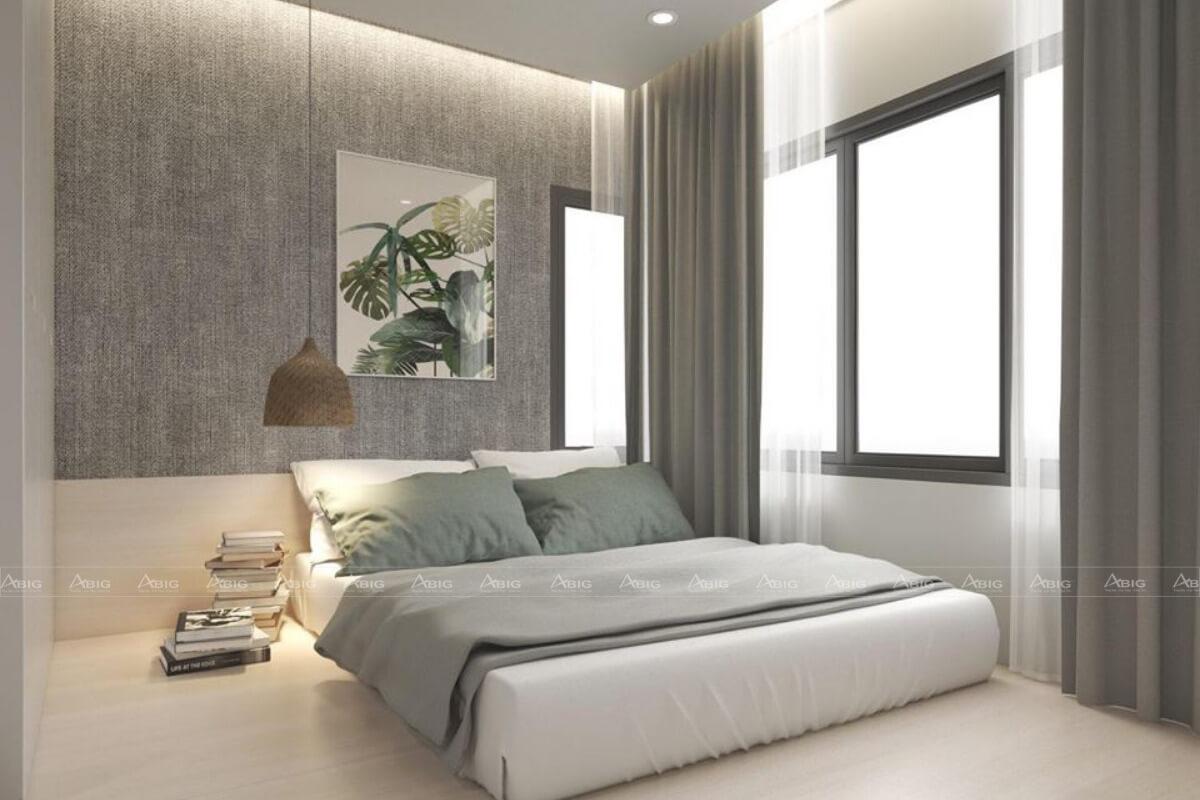 Không gian phòng ngủ rộng rãi và đầy đủ tiện nghi.