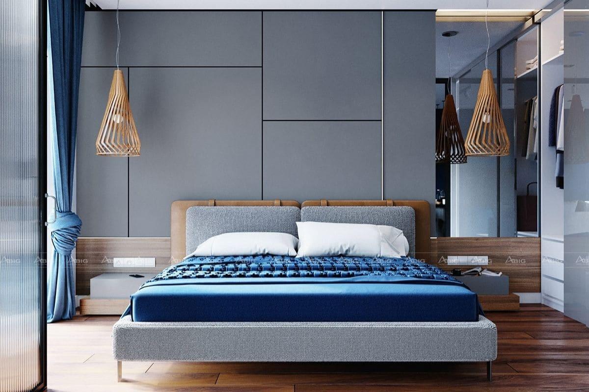 Thiết kế nội thất chung cư 60m2 tone xanh đẹp mắt