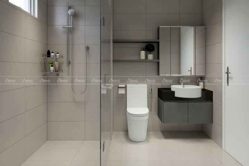 Phòng vệ sinh được thiết kế tạo cảm giác thoáng mát