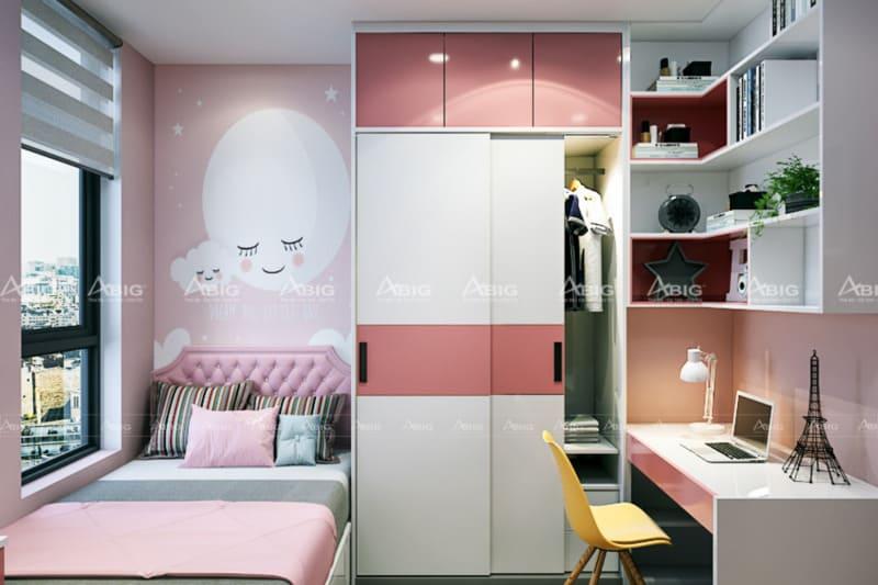 Mẫu phòng ngủ nhỏ đầy đủ tiện nghi dành cho các bé