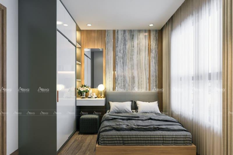 Phòng ngủ thứ 2 có diện tích nhỏ hơn nhưng vẫn đảm bảo đầy đủ tiện nghi