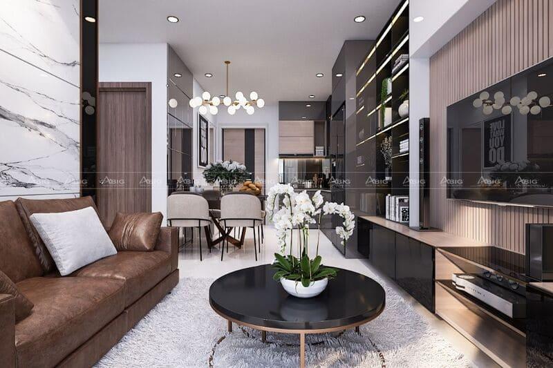 Tối ưu hóa diện tích bằng không gian mở giữa phòng khách và phòng bếp