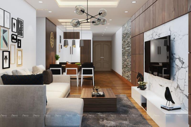 Sàn gỗ cũng là sự lựa chọn thích hợp khi phòng có màu chủ đạo là màu trắng