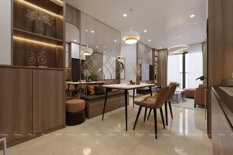 Phòng ăn được thiết kế tạo nên sự gần gũi cho cả gia đình