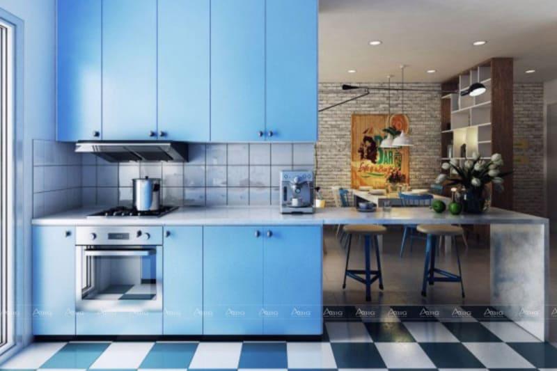 Phòng bếp đơn giản nhưng vẫn đầy đủ tiện nghi