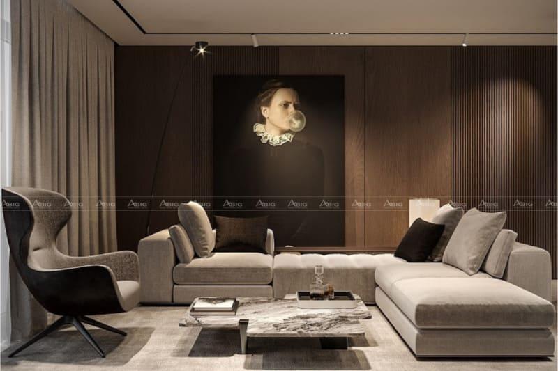 Bức họa sẽ tăng thêm tính nghệ thuật cho phòng khách nhà bạn