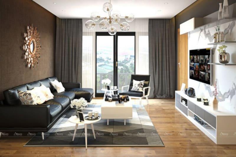 Đèn chùm, bình hoa trang trí, thảm trải sàn là những vật dụng trang trí được ưa chuộng