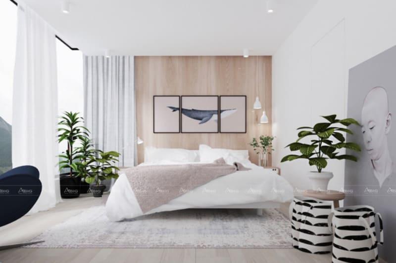 Màu trắng hoàn toàn trong thiết kế nội thất
