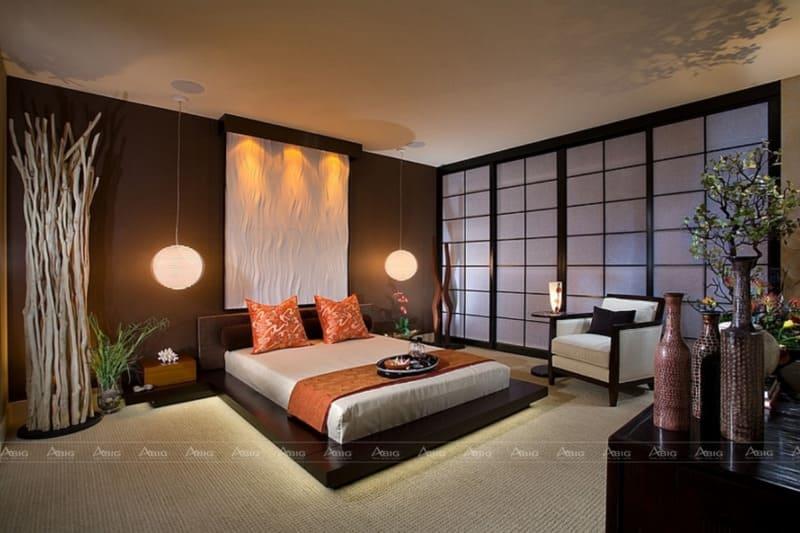 Kiến trúc Đông Á được dùng trong thiết kế phòng ngủ