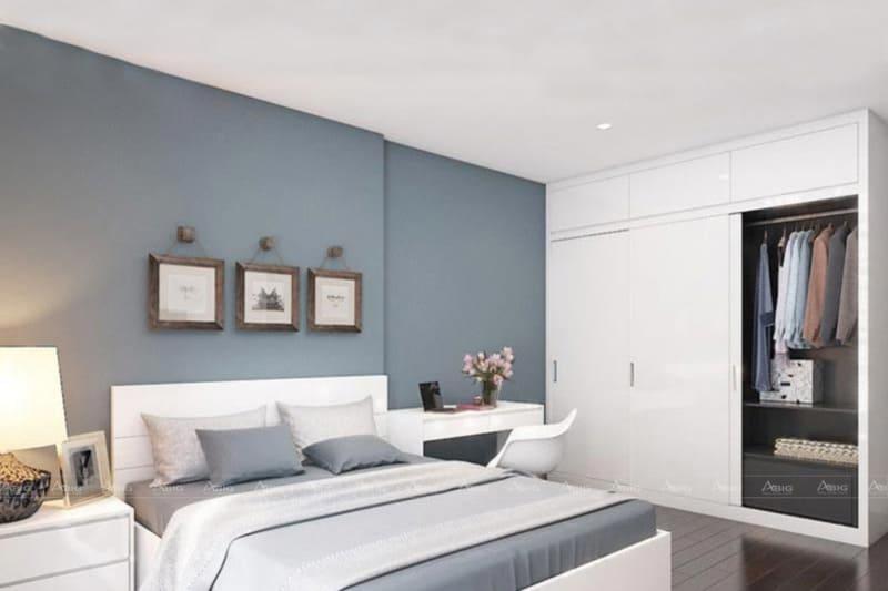 Sơn tường và nội thất cùng tông màu xanh Blue
