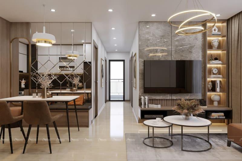 Phòng ăn và phòng khách có thể phối hợp cùng nhau