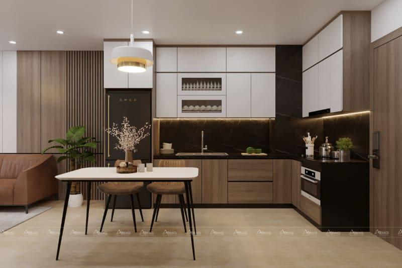 Phòng bếp với đầy đủ tiện nghi để chế biến món ăn