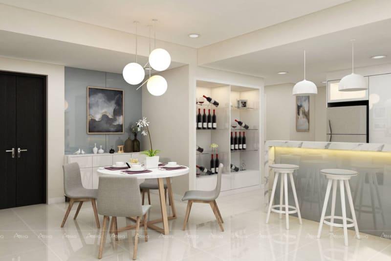 Không gian ấm cúng của phòng ăn gia đình